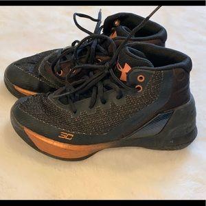 Boys Under Armour basketball shoes